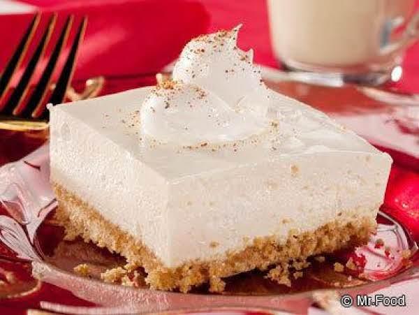 Eggnog Cheesecake-no-bake Recipe