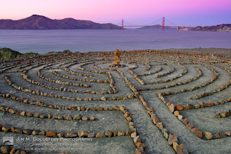 Photo: Lands End Labyrinth One of the many reasons to love San Francisco. This was installed by a local artist in 2004. He's rebuilt it numerous times as its been destroyed or vandalized. Locals have really taken to the labyrinth and now look for it regularly.  If you're curious about it I wrote up an article about it and the artist behind it on my site way back before I had a blog. http://www.jmg-galleries.com/articles/san_francisco_labyrinths.html