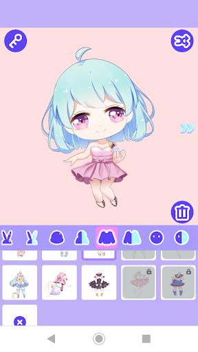 Code Triche Cute Girl Avatar Maker APK MOD screenshots 4