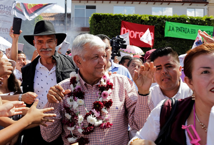 Leftist front-runner Andres Manuel Lopez Obrador in Uruapan, Michoacan state, Mexico, June 8 2018. Picture: REUTERS
