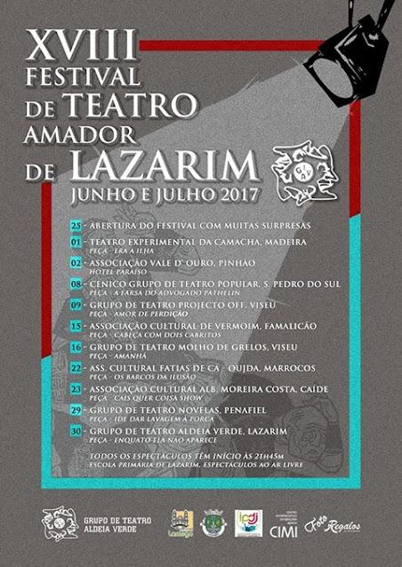 XVIII Festival de Teatro Amador de Lazarim – Lamego – 2017