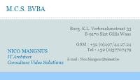 Sporting Sint-Gillis-Waas Onze hoofdsponsors M.C.S. bvba