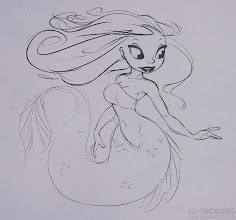 Photo: Day 3 of the daily draw - Mermaidssssss