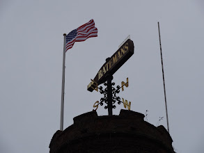 Photo: Jaclyn and Stuart Bateman raised the U.S. flag over the brewery on the day of our visit. What an honor!