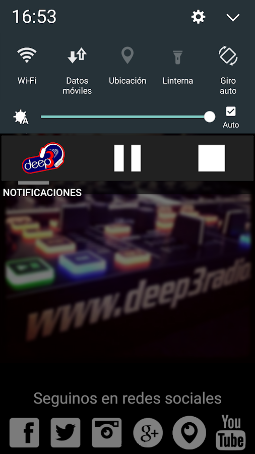 Deep 3 Radio: captura de pantalla