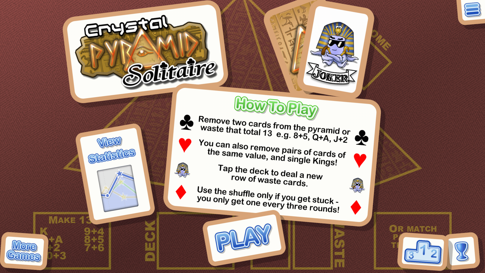 Crystal Pyramid Solitaire- screenshot