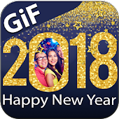 Happy New Year 2018 GIF Photo Frames