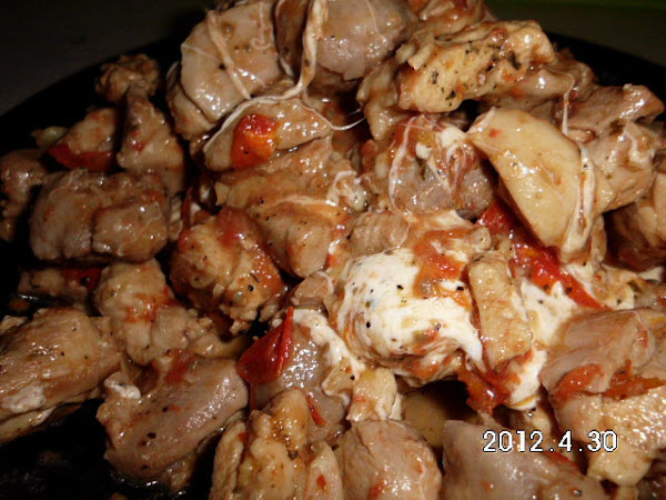 Chicken & Italian Sausage With Tomatoes & Garlic Recipe