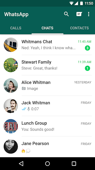 WhatsApp Messenger screenshot for Android