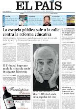 Photo: La escuela pública sale a la calle contra la reforma educativa, Aznar cobró sobresueldos del partido cuando ya era presidente, muere Alfredo Landa, el fiscal Horrach denuncia ataques del PP para tapar la corrupción, el Supremo anula la 'cláusula suelo' de algunas hipotecas e islamistas y laicos chocan en Marruecos por el modelo social. http://srv00.epimg.net/pdf/elpais/1aPagina/2013/05/ep-20130510.pdf