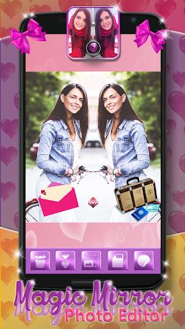 android Magic Mirror Photo Editor Screenshot 0