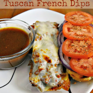 Slow Cooker Tuscan French Dips #SundaySupper.