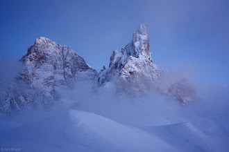 Photo: For #MountainMonday curated by +Michael Russell , here's a photo from the Dolomites in Italy last winter. The mountains there are like sculptures; each one has it's own unique fantastic form.