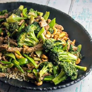 Pork Stir Fry with Cashews