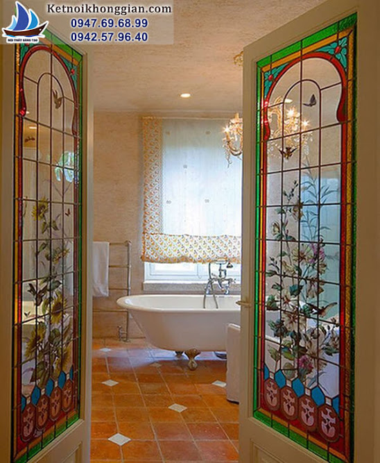 thiết kế phòng tắm cổ điển
