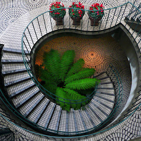 Embarcadero Stairway by Gary Pope - Buildings & Architecture Other Exteriors ( stair, embarcadero, architecture, san francisco, design )