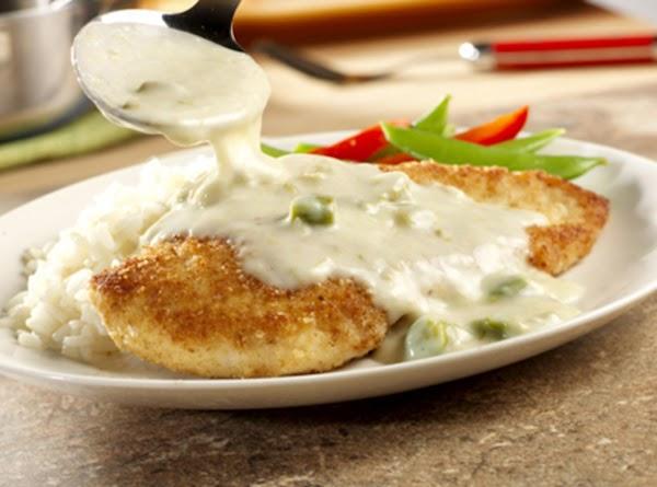Crispy Chicken With Asparagus Sauce Recipe