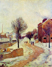 """Photo: Paul Gauguin, """"Sobborgo sotto la neve"""" (1886)"""