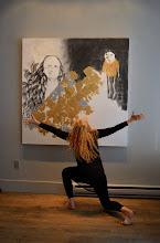 Photo: Brenda Clews at Urban Gallery -photo by Jennifer Hosein