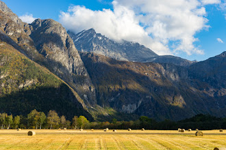 Photo: From Romsdalen, a valley in Northwestern Norway, with the mountain Store Venjetind (aka Vengetind) rising up behind.