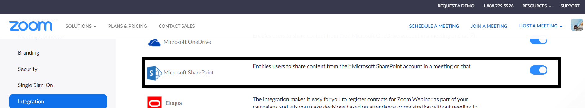 Zoom and SharePoint integration