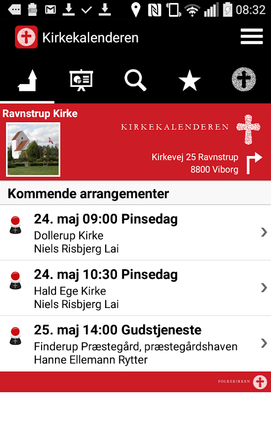 Kirkekalenderen- screenshot