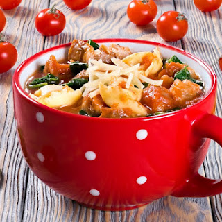 Tortellini with Hearty Ground Turkey Recipe