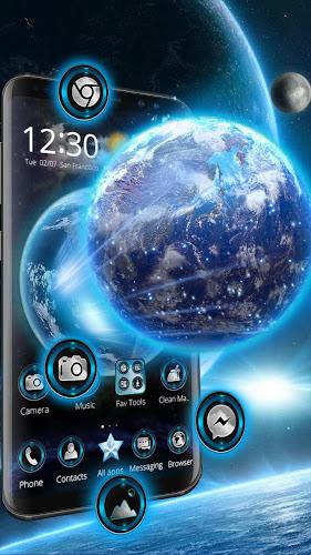 3D Earth Launcher Android App Screenshot