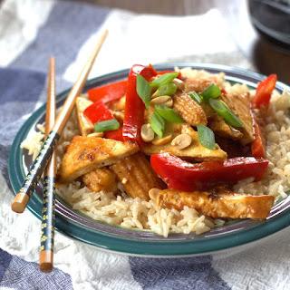 Tofu Stir-Fry with Tamarind Coconut Sauce.