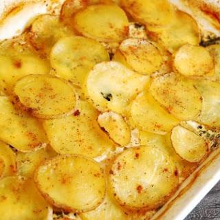 Spinach, Feta and Potato Au Gratin