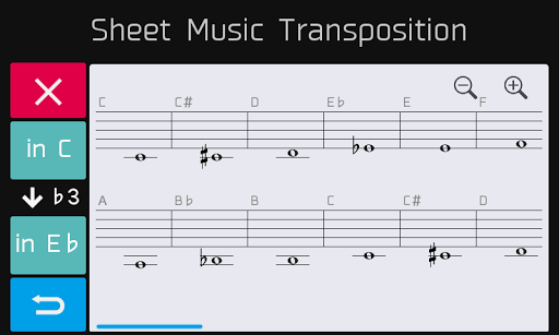 Sheet Music Transposition