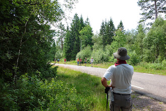 Photo: Børnene skulle vandre 7 km hen til startstedet hvor kanoerne lå