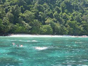 Photo: Snorkelers off Monkey Beach -m Phi Phi Islands