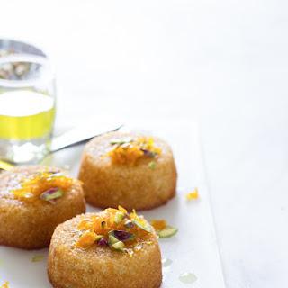 Orange Saffron Syrup Cakes Recipe