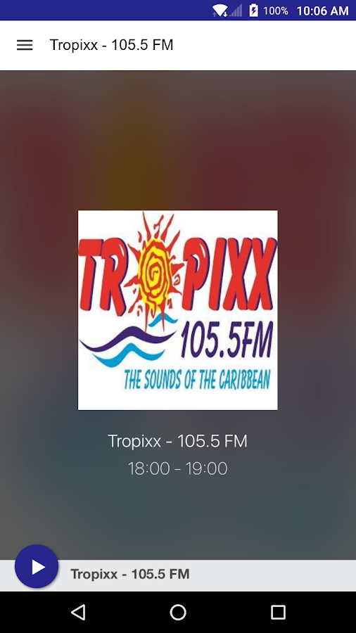Tropixx - 105.5 FM- screenshot
