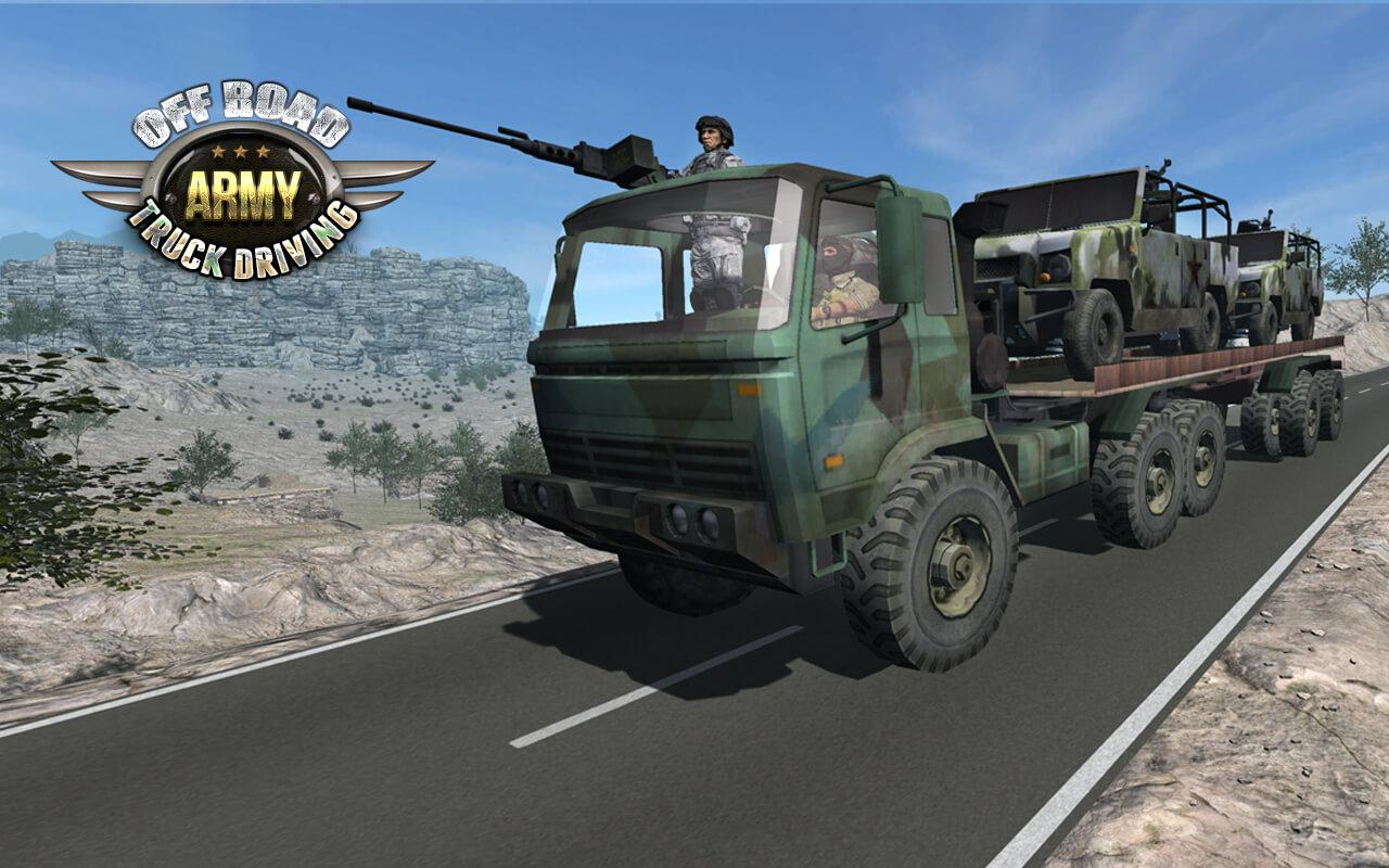 Offroad Army Truck Driving- screenshot