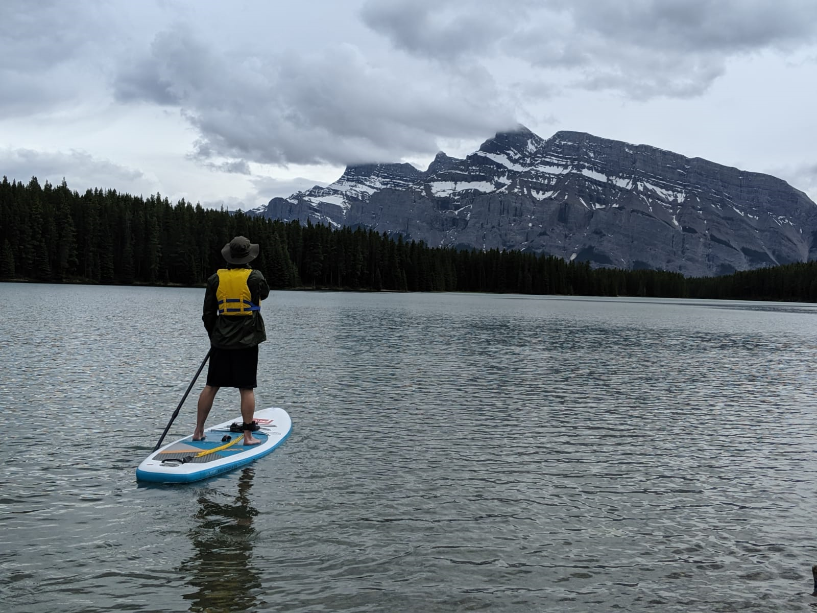 Stand up paddle boarding on Two Jack Lake