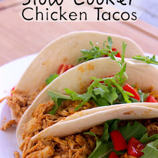 Slow Cooker Chicken Tacos.