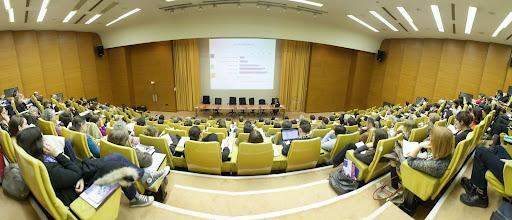Photo: Les participants au colloque, dans l'amphithéâtre Poincaré, au ministère de l'Enseignement supérieur et de la Recherche- Photo Olivier Ezratty