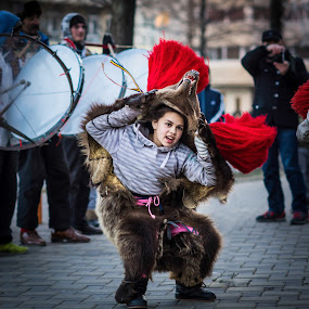 The Bear Dance by Diana Toma - Babies & Children Child Portraits ( bear, candid, childhood, dance )