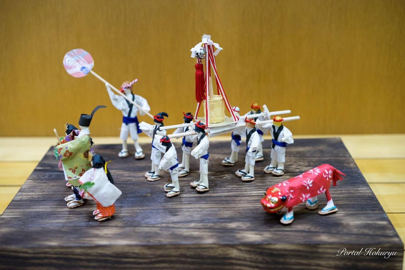 素敵な和紙人形「秋祭り」