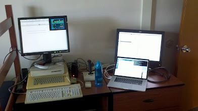 Photo: My computer setup for KFest. Well, the start, anyway.