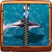 Dolphin Zipper Lock Screen