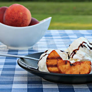 Sweet and Spicy Grilled Peach Dessert.