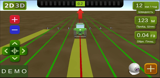 Free GPS navigator for the tractor with the function of measuring of fields