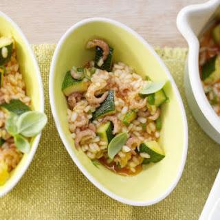 Shrimp Risotto with Zucchini