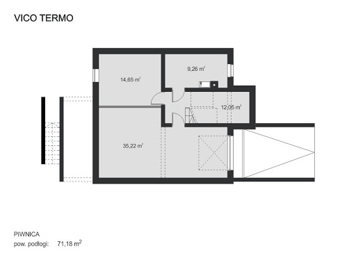 Vico Termo - Rzut piwnicy