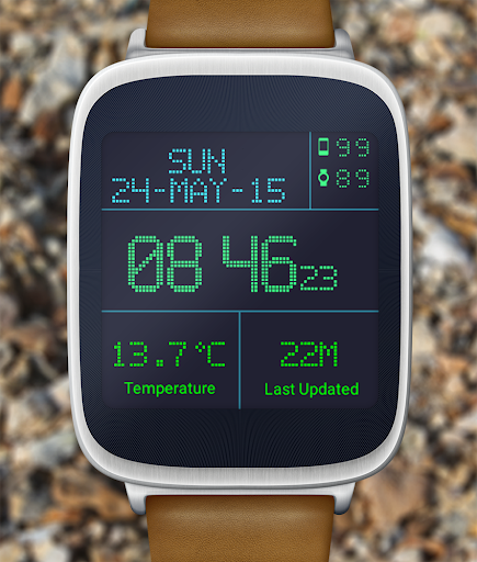 LED Watch face with Weather  screenshots 7