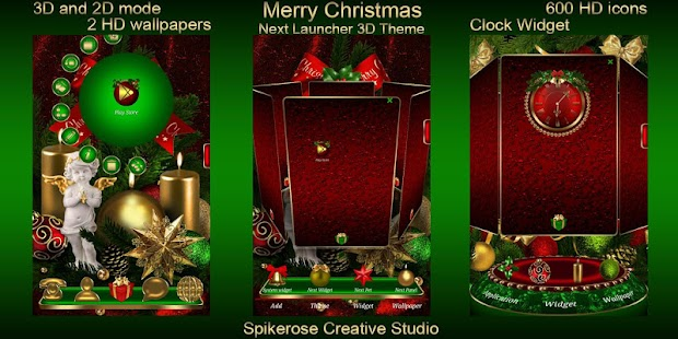 Merry Cristmas 3D Next Launcher theme - náhled