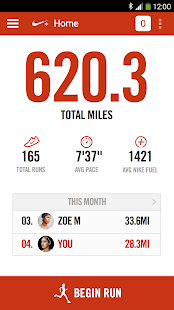 Nike+ Running- screenshot thumbnail